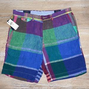 Polo Ralph Lauren Linen Checked Bermuda Shorts,